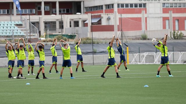 Primer entrenamiento de Las Palmas Atlético