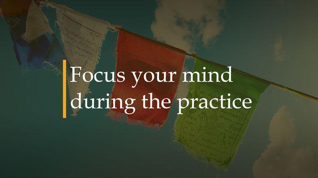 Mente en calma durante la práctica