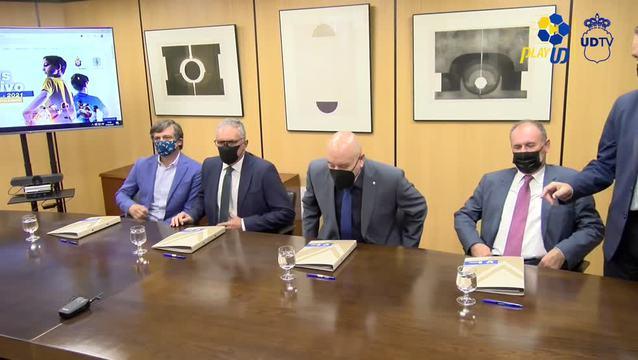 Firma acuerdo de la Fundación UD Las Palmas con VISOCAN