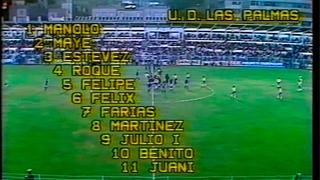 UD Las Palmas 2 -1 FC Barcelona   Temp. 1981/1982